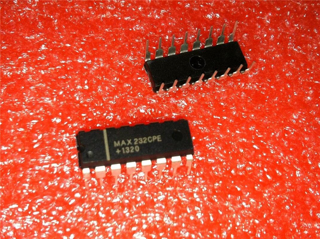 10pcs/lot MAX232CPE MAX232 2DVR/2RCVR RS232 5V 16-DIP In Stock