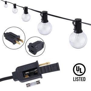 Image 3 - 50 unids/lote 25 ft G40 luces de cadena de globo con bombillas UL listadas para fiesta boda jardín patio pérgola