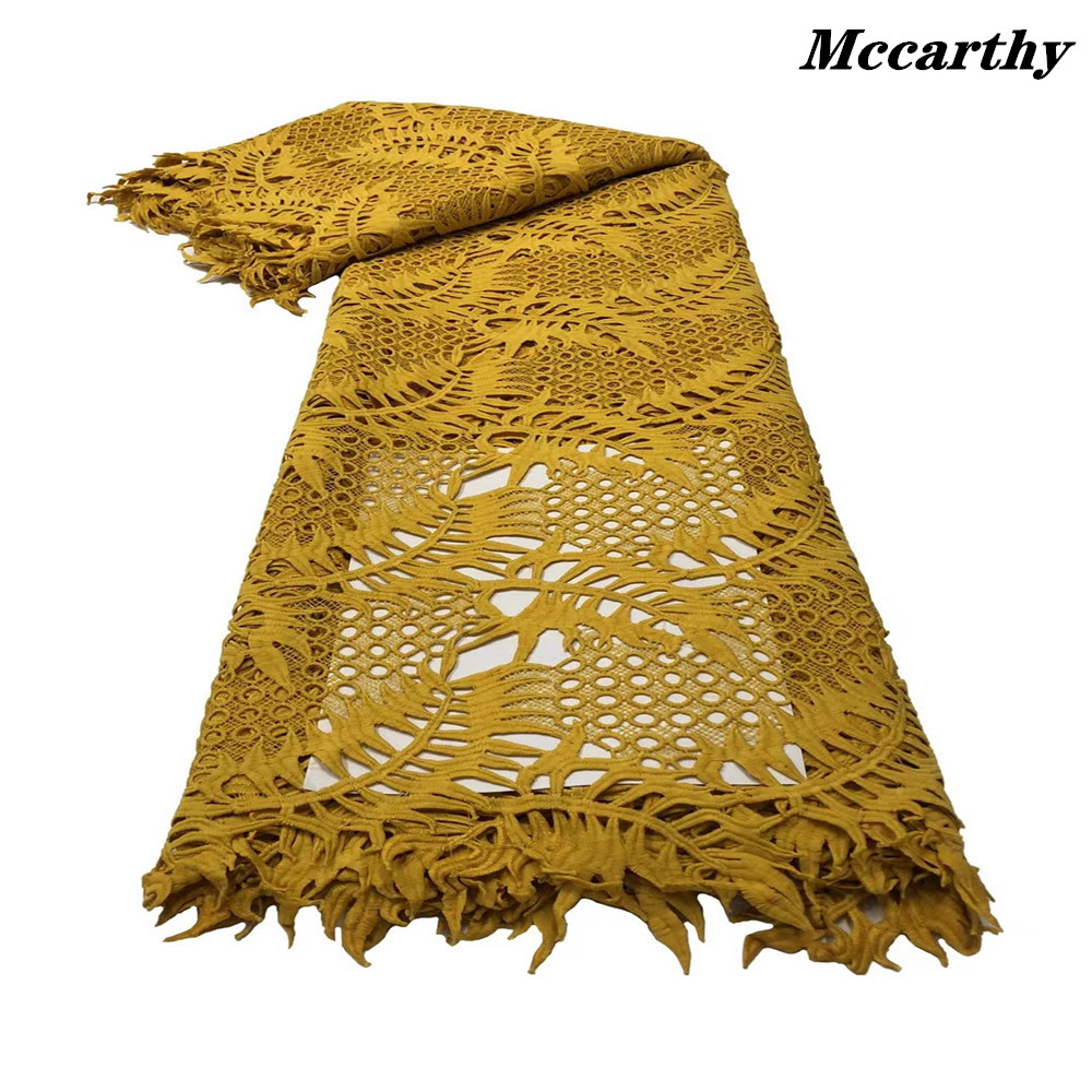 Hot Skin Friendly Guipure Lace African Eembroidery Cord Fabric Nigerian Celebration Lace For Wedding Party Dress