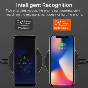 Image 3 - Qi 10W Fast Wireless Charger Pad For iPhone XR XS Max 11 Pro Wireless Charging Receiver For Xiaomi Type C Micro USB Mobile Phone