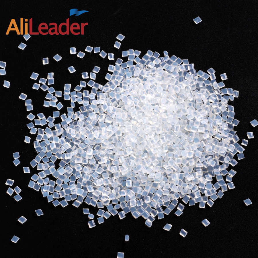 Alileader 高品質のイタリアケラチン接着剤穀物黄色透明ホワイトホット溶融ビーズヘアエクステンション