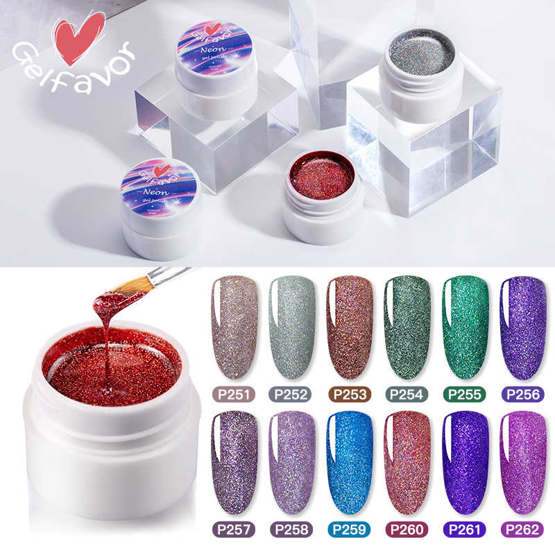 5ml Mode Heldere Glanzende Nagellak Gel Nagels Shiny Glitter Pailletten UV Gel Varnish Regenboog Laser Soak Off Nail art Vrouw TSLM1