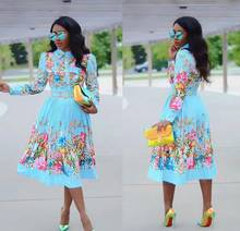 African dress sexy fashionable African woman print dress(China)