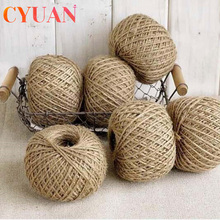 CYUAN Wedding Decor 30M Natural Burlap Hessian Jute Twine Cord Hemp Rope String Gift Packing Strings Christmas Party Supplies