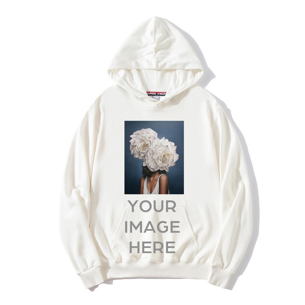 Spring Autumn Men New Casual Street Wear Sweatshirts Can Custom Printed Logo Photo Male/female Long Sleeve Pullover Hoodies