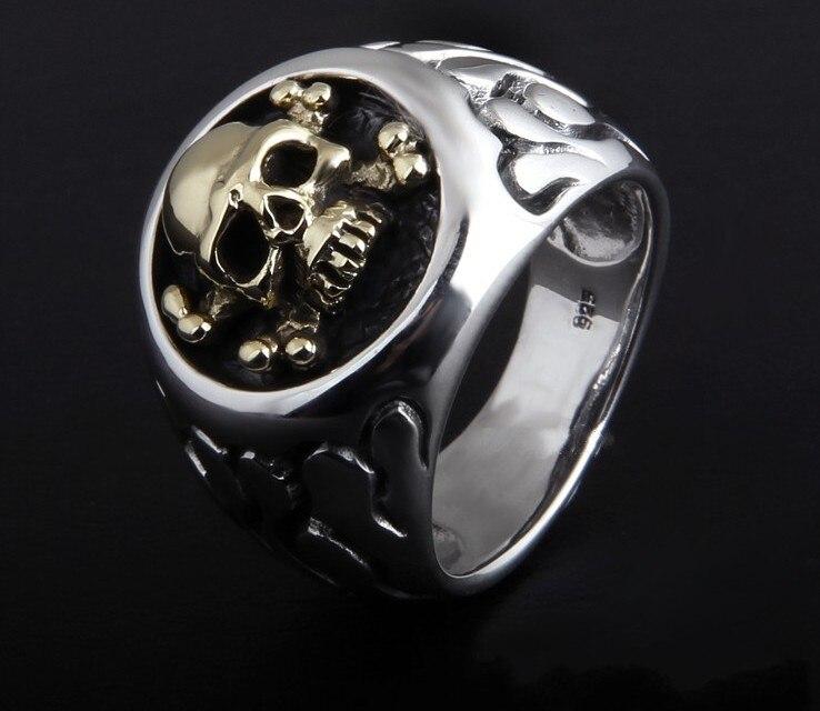 925 Серебряное кольцо на пару с тотемом из тайского серебра