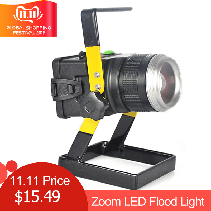 LED Floodlight Original 30W 1200 LM LED Flood Lamp XM-L T6 3 Modes Rechargeable LED Spotlight Fishing Lamp For Camping / Hunting