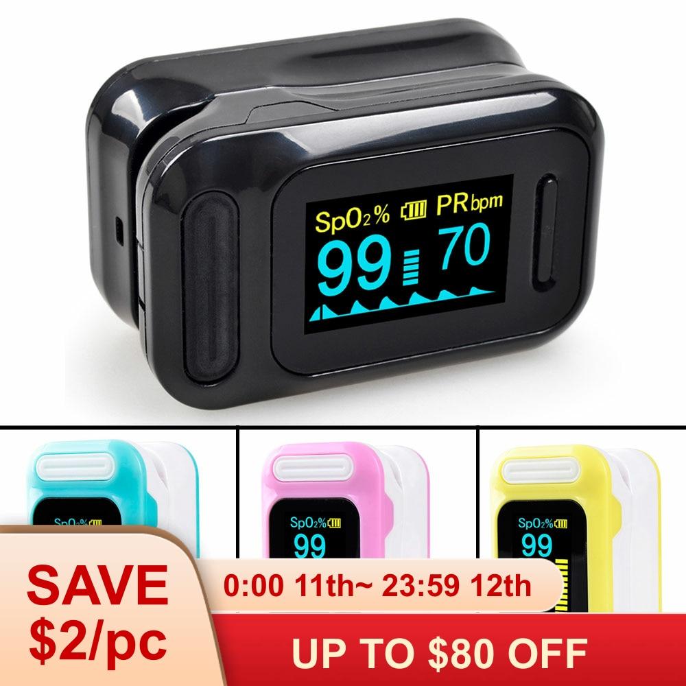 ELERA Portable Finger Pulse Oximeter Blood Oxygen Saturation meter Fingertip Pulsoximeter SPO2 Monitor Oximetro dedo