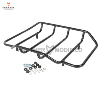 Black Motorcycle King Chopped Razor Tour Pak Top Rail Luggage Rack case for Harley Touring Road King 1984-2017