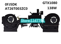 New Original Laptop CPU Cooling Radiator Heatsink&Fan for Dell AW 17 M17X R5 0FJ5DK AT26T003ZC0 0Y6MN4 AT26T002ZC0 GTX1080 138w