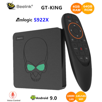 Beelink GT-King TV Box Android 9.0 Amlogic S922X 4GB DDR4 64GB ROM Voice Remote Control 2.4G+5.8G WiFi 1000Mbps 4K Set Top Box