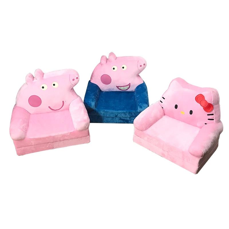 Princess Children Sofa Cartoon Lazy People Lovely Baby Fold Small Kids Sofa Chair Bean Bag Child Bed Zitzak Pink Baby Furniture