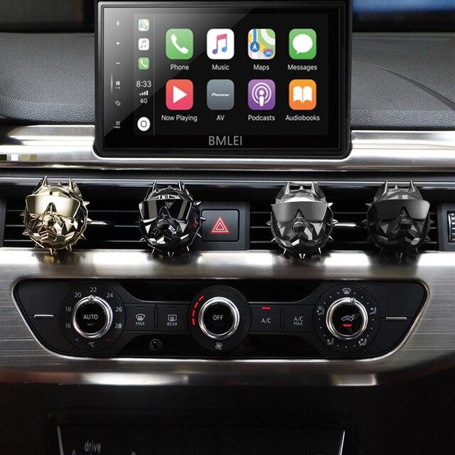 Bulldog mode voiture désodorisant parfum pince diffuseur de parfum évents automatiques parfum odeur désodorisant parfum intérieur accessoires
