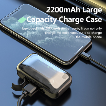 Wireless Headphones TWS Bluetooth 5.0 Wireless Earphones 2200mAh Charging Box With Microphone Sport Waterproof Headsets Earbuds 2