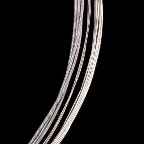 Conjunto de substituição de 4 pces liga de níquel ferida E-B-G-D corda para 4 cordas banjo-5