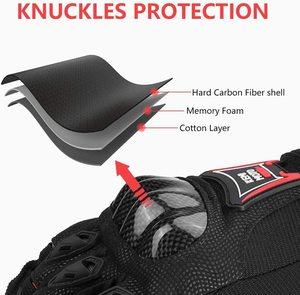 Image 4 - KEMiMOTO Corbon الألياف قفازات جلدية للدراجات النارية تعمل باللمس الدراجات واقية دراجة نارية Luvas دراجة هوائية جبلية Guantes الرجال النساء