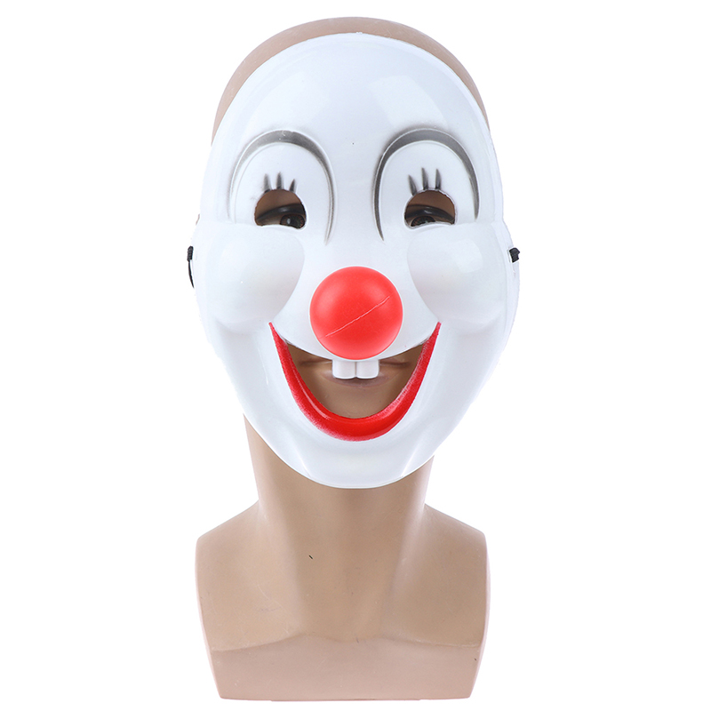 Christmas Party Cosplay PVC Mask Cartoon Mask Red Nose Clown Mask Halloween Party Supplies Toy Gifts For Kids