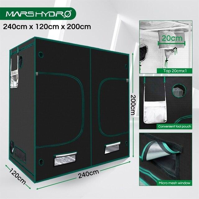 1680D Mars Hydro 240X120X200cm Indoor LED Grow Tent Indoor Growing  6