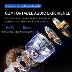 Image 3 - D8 ב אוזן Wired אוזניות עם מייק דיבורית רעש ביטול עמיד למים IPX4 TWS אוזניות נתקעים אוזניות עבור I12 tws earbud
