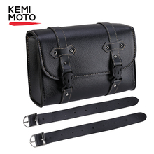 KEMiMOTO Saddle Bag PU Leather Motorcycle Storage Tool Bags Pouch PU Sissy Bar Bags For Honda for Sportster 1200 For Kawasaki