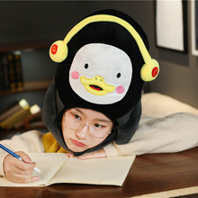 Cosplay Anime Penguin Plush Hat Fluffy Cute Pengsoo Doll Animal Headgear Mascot Halloween Costume Keep Warm Cap