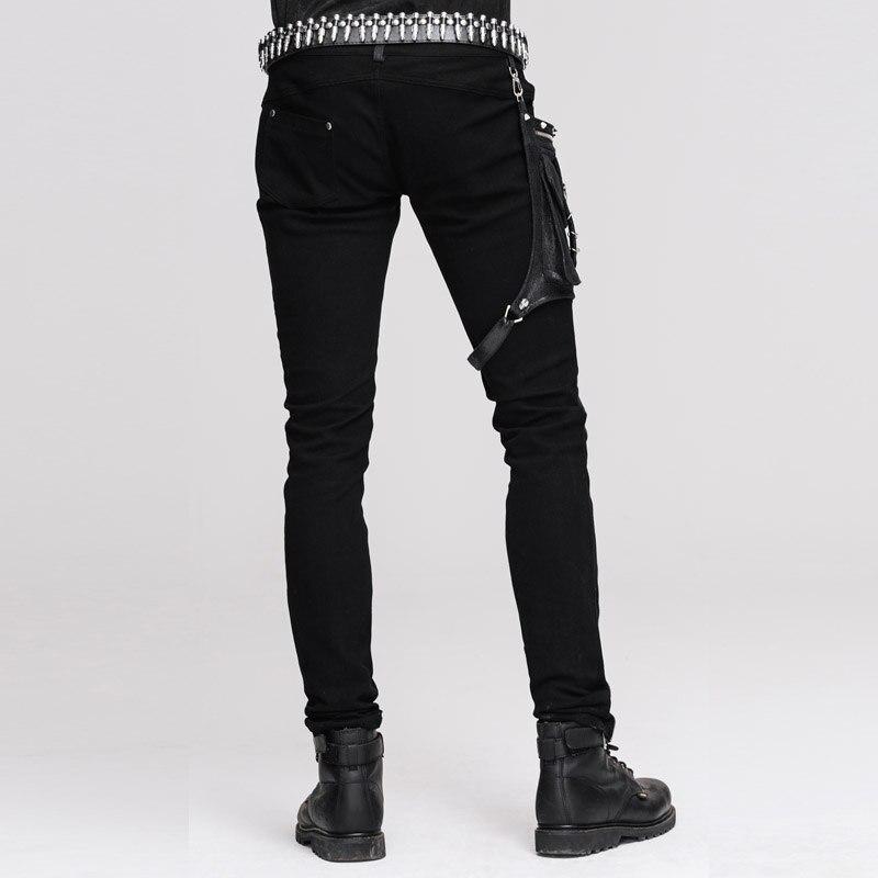 Панк рейв женские панк уличные обтягивающие брюки модные хлопковые черные готические длинные брюки женские панк брюки для мотоциклов - 3