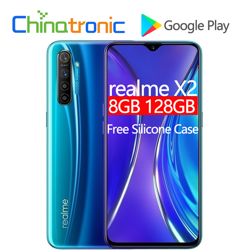 "Original novo realme x2 x 2 8 gb 128 gb 4g fdd lte telefone móvel 6.4 ""fhd + snapdragon 730g octa núcleo 64mp vooc 30 w carregador rápido nfc"