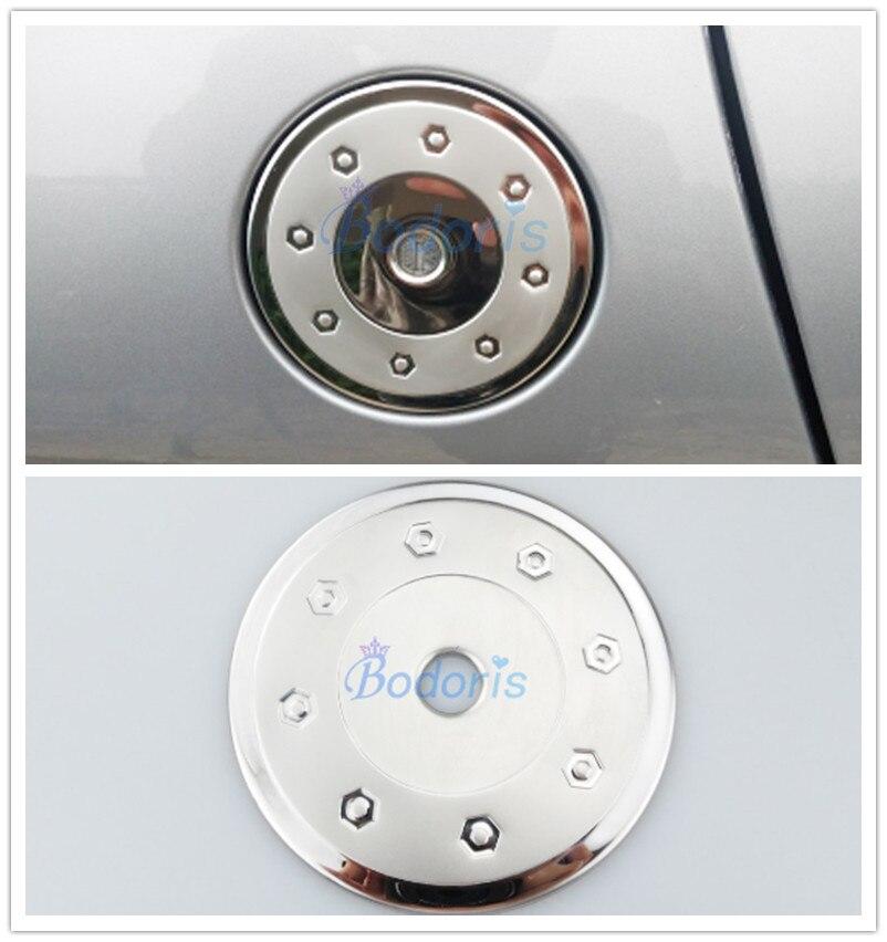 Para peugeot 206 citroen c2 tampa do tanque de combustível de aço inoxidável caixa de gás capa carro-estilo acessórios