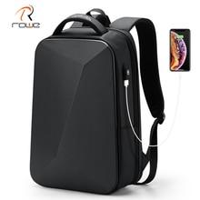 Rowe Laptop Backpack Business Men Backpack USB Charging Anti-theft Waterproof Black Ultralight Travel Backpacks Bag Hot Sale