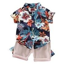 Boy Clothing Gentelman-Clothes-Set T-Shirt Short Outifit-Set Solid-Pants Baby Summer Toddler