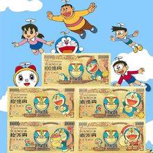 1 pces 2021 japão anime nota 10,000 yen em 24k ouro chapeado dinheiro para a coleção