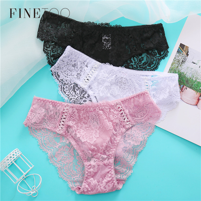 3Pcs/set Sexy Lace Panties For Women Fashion Weave Underwear Girls Floral Briefs L-2XL Sexy Women Underpants Female Lingerie New