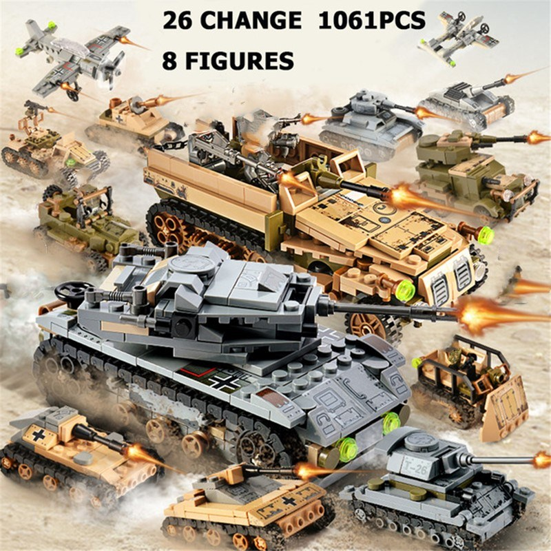 Toy building blocks assembled military patrol partner 505