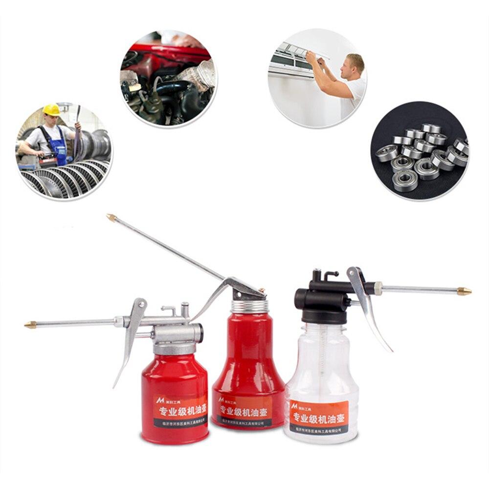 Grease Gun Oil Pump 250ml Oil Can  Plastic  Transparent Hose High Pressure Hose Oiler Mini Grease Gun Hose Oil Injector Can
