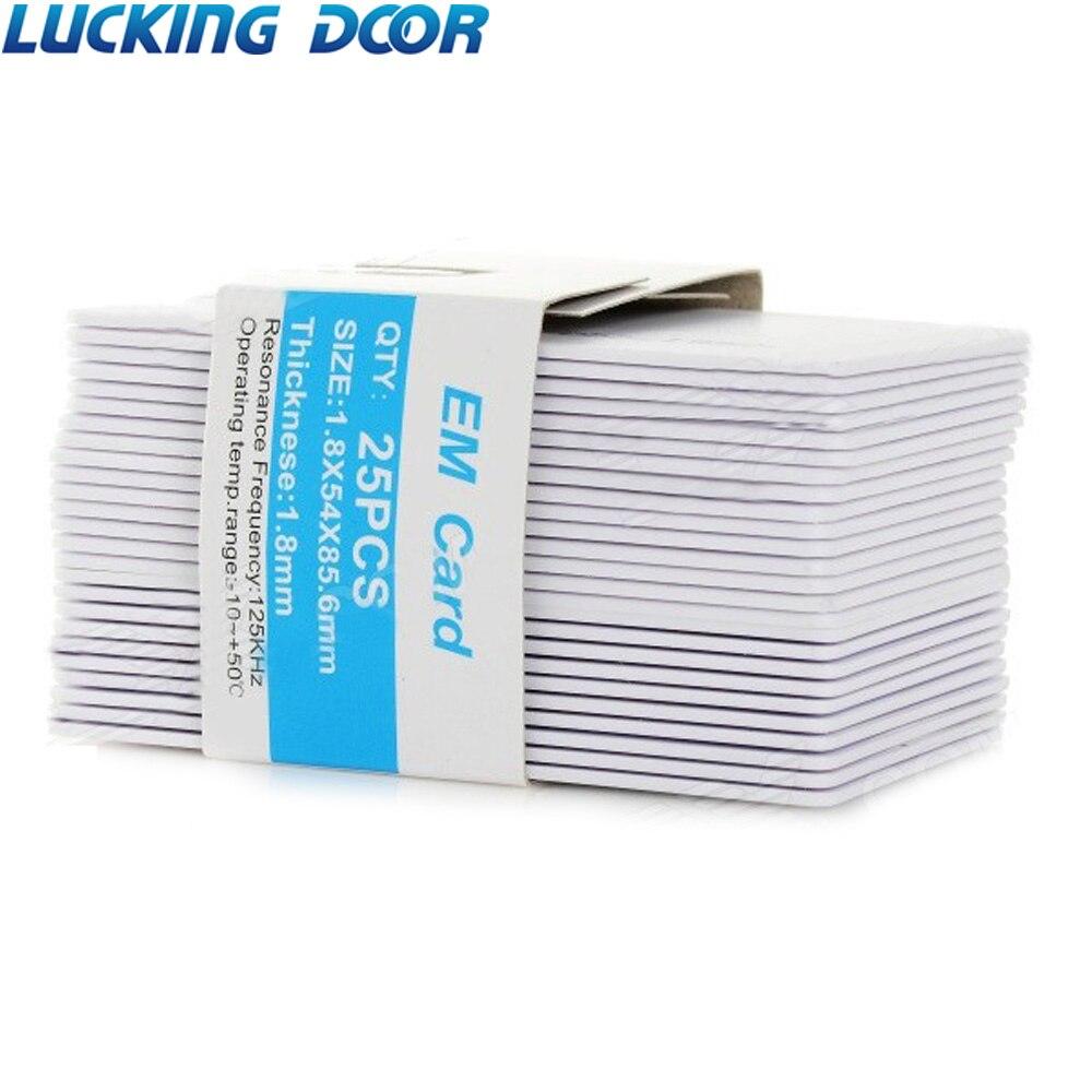 Lucking porta 25 pçs/lote 1.8mm rfid 125khz entrada acesso em cartões cartão de identificação rfid para controle acesso comparecimento do tempo