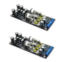 2pcs 6J1 Valve Pre-amp Tube PreAmplifier Assembled Board Audio Musical Fidelity horizontal/Cross
