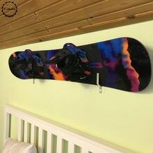 Montagem na parede em rack de armazenamento de snowboard-ferragem e capa de parafuso incluída-hold 1 placa