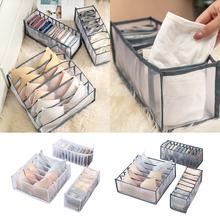 Organizer biustonoszy schowek bielizna dzielnik schowek szuflada pokrywa pudełko do przechowywania do szafy krawat bielizna szalik skarpetki składane pudełko tanie tanio CN (pochodzenie) Włókniny tkaniny As details show Multi-size Multi-color Underwear Storage Box Eco-Friendly