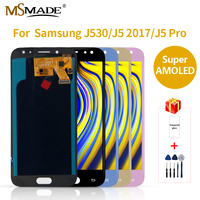 AMOLED LCD for SAMSUNG Galaxy J5 2017 Display Touch Screen J530 J530F For SAMSUNG J5 Pro 2017 Display LCD Screen Replacement