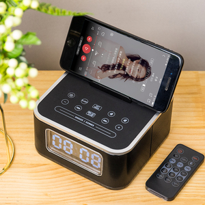Image 1 - Homtime – réveil avec haut parleur Bluetooth, caisson de basses, Radio dappel sans fil, pour maison, hôtel, chevet, téléphone portable