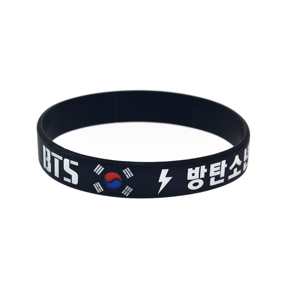 Hot Sales South Korea Popular Combination BTS Silica Gel Bracelet the mood for love Album Star Band Korean-style Bracelet