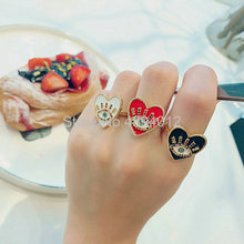 10pcs or 20pcs, Women Fashion Jewelry, Adjustable Rings,The CZ Setting Rings,3Colors,Can Wholesale