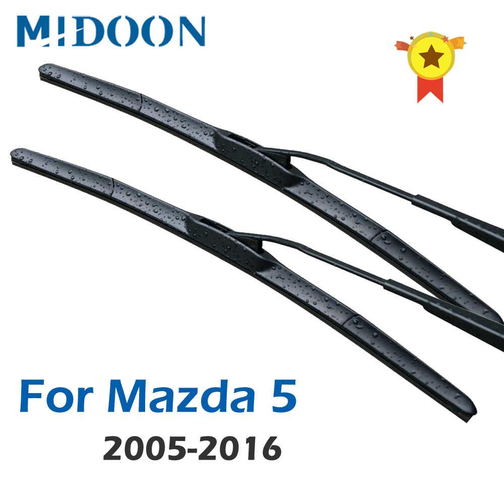 """Mazda 5 2005-ON AEROFLAT pare-brise Balais d/'essuie-glace 26/"""" 16/"""" Nouveau"""