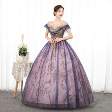 Ball-Gown Quinceanera-Dress Party Vintage Luxury Win Mrs Floor-Length Short
