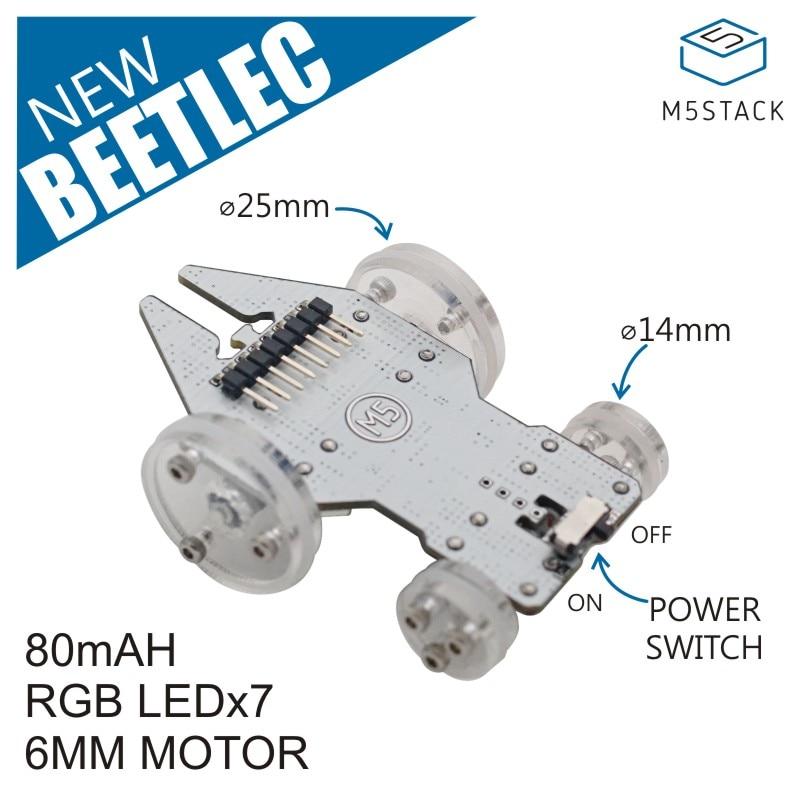 M5Stack Beetlec Robotic Car Dual-Driver and 7 RGB LEDs ESP32 Full-Function Small Robotic Car