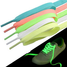 1 Pair Luminous Shoelaces Flat Reflective Runner Shoe Laces Luminous Glowing Shoelaces Sport Basketball Canvas Shoes Accessories(China)
