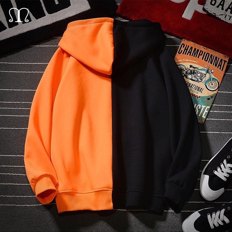 Zipper Sweatshirt Men Hooded Streetwear Hoodies Men 2020 New Hip Hop Oversized Hoodie Men Gym Tracksuits Outwear Patchwork Hoody