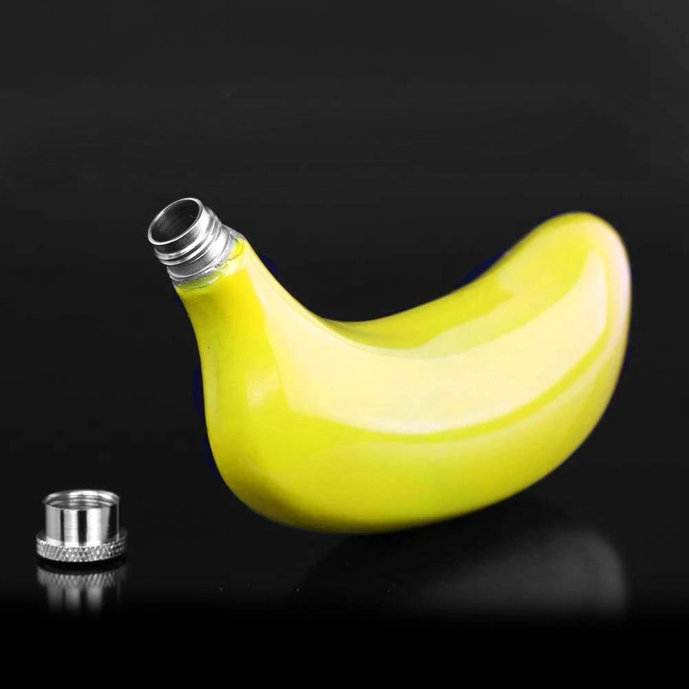 Banane Flasque Drôle Nouveauté Acier Fruit en Forme De Alcool
