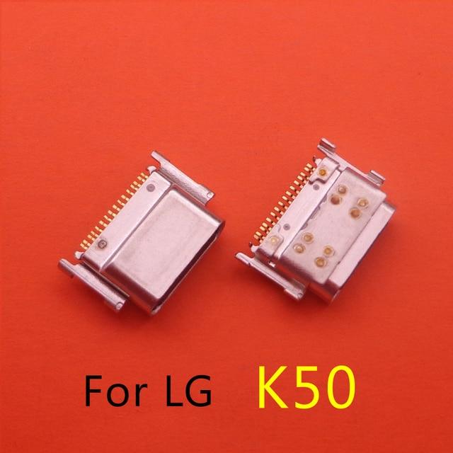 50Pcs Type C Usb Voor Lg K50 K50S K51S Opladen Dock Connector Charge Port Socket Jack Plug