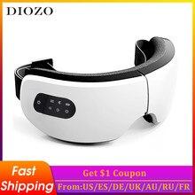Outil de massage avec bluetooth pour les yeux à vibrations électriques,appareil de soins oculaires, pour soulagement de la fatigue, masseur à compression à chaud,